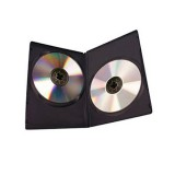 DVD Case Black, Double (100pk)